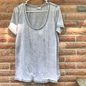 make and model Tops - Grey comfy burnout t shirt